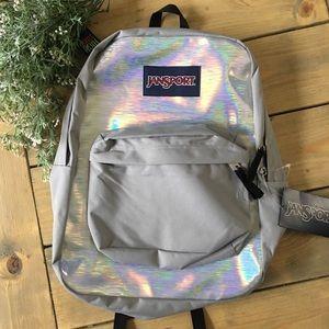 Jansport High Stakes Silver Hologram Backpack